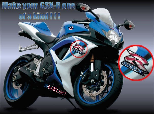 Custom vinyl decals and graphics for suzuki gsx r motorcycles